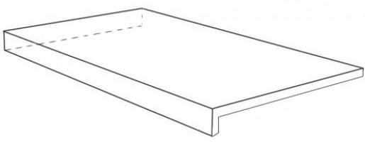 Ступень Italon Room Stone Grey Scalino Ang Sx Cer угловая левая 33x120 620070001237
