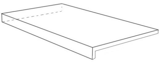Ступень Italon Room Stone White Scalino Ang Sx Cer угловая левая 33x120 620070001235