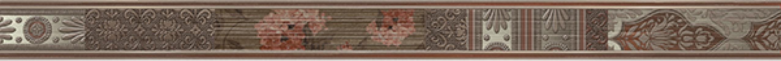 Бордюр Keraben Velvet Listelo Patchwork Marron 7x90