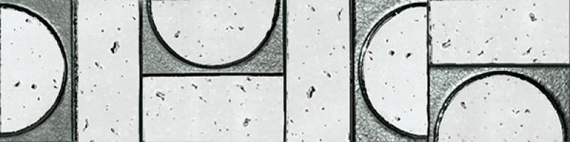 Бордюр Fap Ceramiche Evoque Sigillo Argento Listello Mosaico 7.5x30.5 fKVP