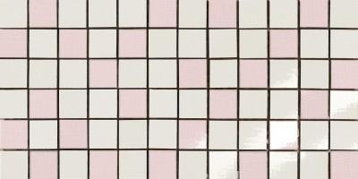 Мозаика Antica Ceramica Rubiera Alterego Mos. Random Bianco-Rosa 20x40 301307