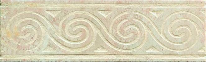 Бордюр Capri Ceramiche Travertino Fascia Grigio 8.5x30