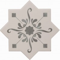 Декор Cevica Becolors Star Dec. Stencil Grey 13.25x13.25