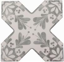 Декор Cevica Becolors Cross Dec. Stencil Grey 13.25x13.25