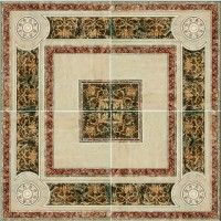 Панно Capri Ceramiche Travertino Rosone Crema 84x84