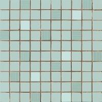 Мозаика 70034 Lyra Mosaico Mentha Dark Satin.Su Rete 25X25 AVA Ceramica