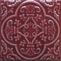 Настенная плитка Toledo Burgundi 15.8x15.8 Absolut Keramika