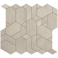 Мозаика напольная AN63 Boost White Mosaico Shapes 31x33.5 Atlas Concorde Italy