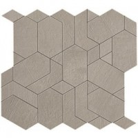 Мозаика напольная AN64 Boost Pearl Mosaico Shapes 31x33.5 Atlas Concorde Italy