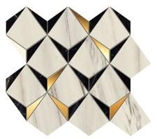 Мозаика 9MDB Marvel Dream Diamonds Bianco - Black 35.8x32.9 Atlas Concorde Italy