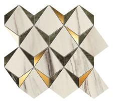 Мозаика 9MDG Marvel Dream Diamonds Bianco - Green 35.8x32.9 Atlas Concorde Italy