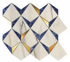 Мозаика 9MDN Marvel Dream Diamonds Bianco - Ultramarine 35.8x32.9 Atlas Concorde Italy