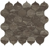 Мозаика напольная 9EDB Marvel Edge Absolute Brown Drop Mosaic 27.2x29.7 Atlas Concorde Italy