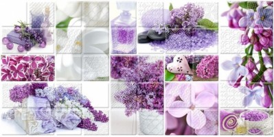 Керамическая плитка 04-01-1-10-04-51-693-3 Арома Сирень лиловый декор 25х50 Belleza