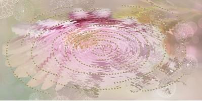 Декор 04-01-1-08-05-23-370-2 Мечта Цветок отражение 40х20 Belleza