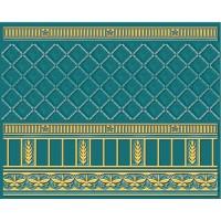 Бордюр 05-01-1-93-03-72-886-0 Воспоминание Бирюзовый 20х25 Ceramique Imperiale