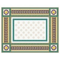 Бордюр 05-01-1-93-03-71-908-0 Золотой Бирюзовый 20х25 Ceramique Imperiale