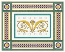 Бордюр 05-01-1-93-03-71-909-0 Золотой Бирюзовый 20х25 Ceramique Imperiale