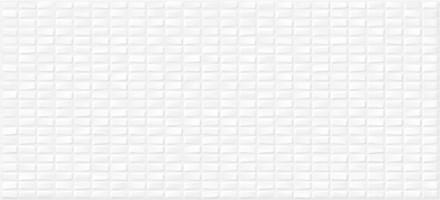 Плитка настенная PDG053D Pudra мозаика рельеф белый 20x44 Cersanit