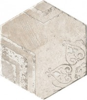 Керамогранит 1051023 Recupera Es.Romantica Bianco S 24x27.7 Cir Ceramiche