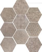 Керамогранит 10472511 Riabita Il Cotto Esag.Fabric Natur 24x27.7 Cir Ceramiche