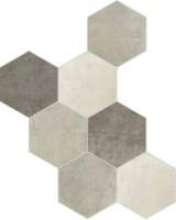 Керамогранит 1047347 Riabita Il Cotto Esag.Fabr.Mix Min 24x27.7 Cir Ceramiche