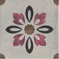 Декор 1036798 Viaemilia Inserto Rivalta Fiore S/1 Gr.Pz 20x20 Cir Ceramiche