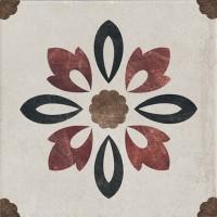 Декор 1036888 Viaemilia Inserto Rivalta Fiore S/1 Gr.Mq 20x20 Cir Ceramiche