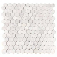 Мозаика настенная CV20254 Statuario Polished Pure White Hexagon 30.5x30.5 Colori Viva
