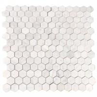 Мозаика настенная CV20254 Statuario Polished Pure White Hexagon 30.5x30.5 Colori Viva