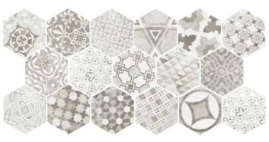 Декор 22099 Hexatile Cement Garden Grey 17.5x20 Equipe