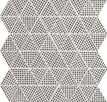 Мозаика настенная fOEG Pat Deco Black Triangolo Mosaico 30.5x30.5 Fap Ceramiche
