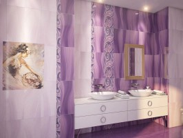 Плитка Arabeski purple (Gracia Ceramica)