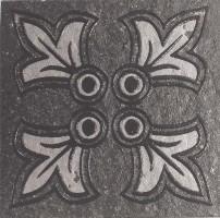 Декор G-173/S/t02 Quartzite Тако Черный 7x7 Grasaro