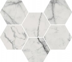 Декор Italon Charme Evo Statuario Mosaico Hexagon 25x29 620110000046