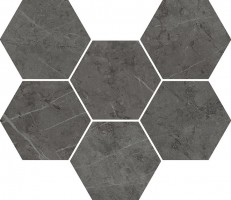 Декор Italon Charme Evo Antracite Mosaico Hexagon 25x29 620110000050