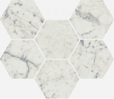 Декор Italon Charme Extra Carrara Mosaico Hexagon 25x29 620110000065
