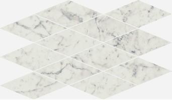 Декор Italon Charme Extra Carrara Mosaico Diamond 28x48 620110000077