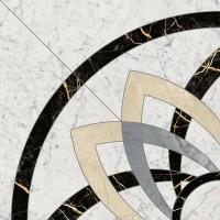 Декор Italon Charme Extra Carrara Rosone Angolo Lux 59x59 620120000065