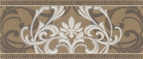 Бордюр Italon Travertino Listello Arabesque 10x25 600090000303