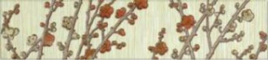 Бордюр Сакура 3 Веточки 6.2x27.5 Керамин