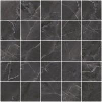 Декор MM34038 Olimpus мозаичный чёрный 25х25 Laparet