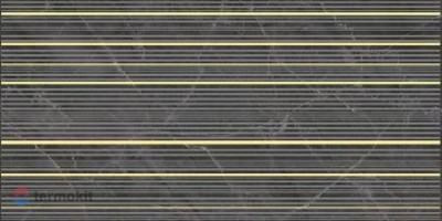 Декор Olimpus Race чёрный 25х50 Laparet