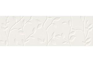 Плитка настенная O-WIN-WTA052 Winter Vine рельеф белый 29x89 Mei