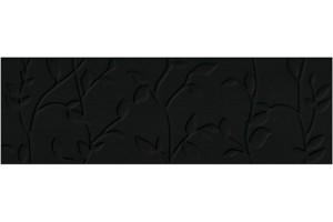 Плитка настенная O-WIN-WTA232 Winter Vine рельеф черный 29x89 Mei