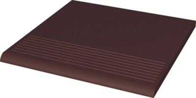 Ступень Natural Brown простая гладкая 30х30 Paradyz