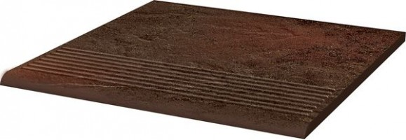 Ступень Semir Brown простая структурная 30х30 Paradyz