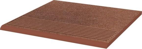 Ступень Taurus Brown простая структурная 30х30 Paradyz