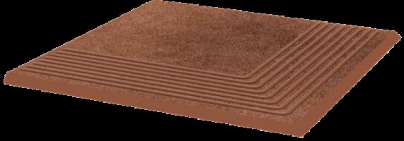 Ступень Taurus Brown угловая структурная 30х30 Paradyz