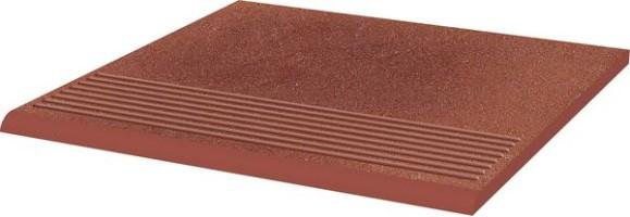 Ступень Taurus Rosa рифленая простая структурная 30х30 Paradyz